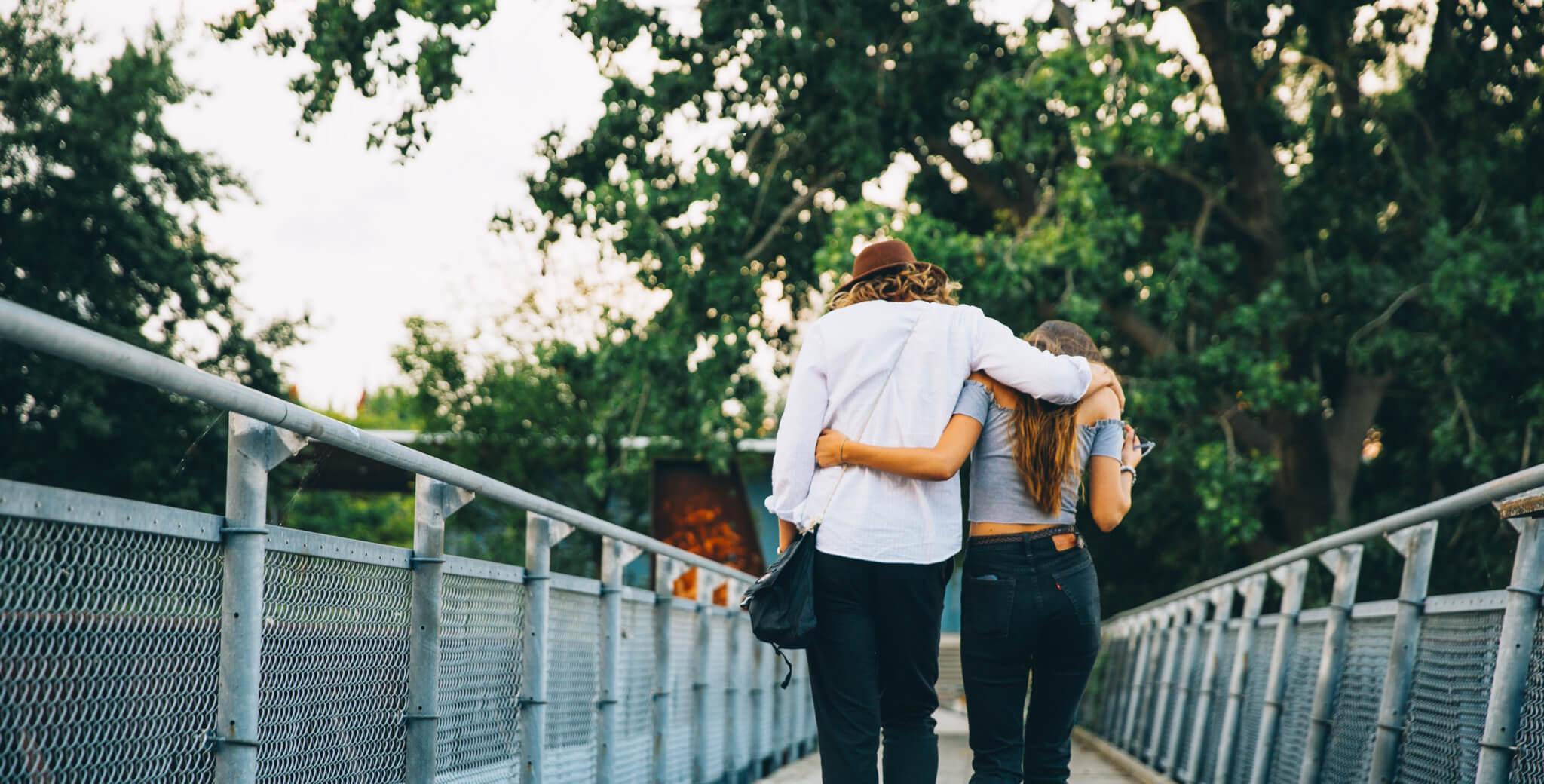 Couple Walk Hug 4460×4460